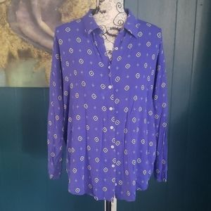 INTIMATELY FREE PEOPLE Purple Button Down Size S